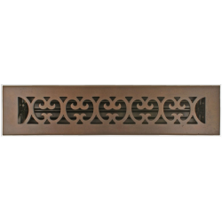 "Bronze 2 1/4X14"" Scroll Floor Vent"
