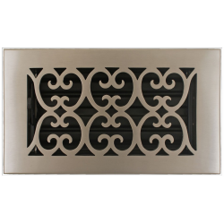 "Bronze 4X10"" Scroll Floor Vent"