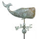 Whale Weathervane, Blue Verdi
