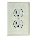 White Design Outlet Switch Plate