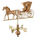 Country Doctor Weathervane, Polished Copper