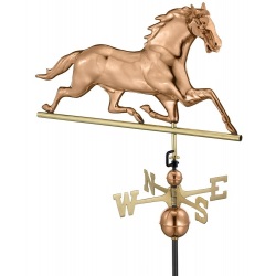 Horse Weathervane, Polished Copper