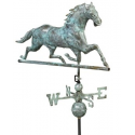 Horse Weathervane, Blue Verdi