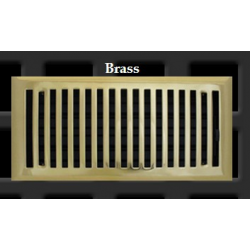 Polished Brass Contemporary Floor Vent 6X10""