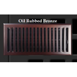 Oil Rubbed Bronze Contemporary Floor Vent 4X12""