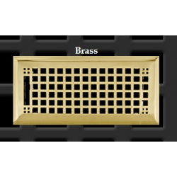 """Polished Brass Rockwell Floor Vent 4X10"""""""