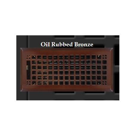 Oil Rubbed Bronze Rockwell Floor Vent 6x12