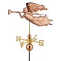 Angel Weathervane, Polished Copper