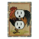 Rooster Outlet Switch Plate