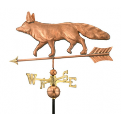 Fox  Weathervane, Polished Copper