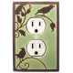 Green Songbird Outlet Switch Plate
