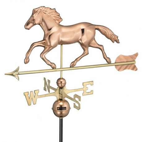 Smithsonian Running Horse Weathervane, Polished Copper