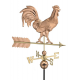 Rooster Weathervane, Polished Copper