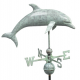 Dolphin Weathervane, Blue Verdi