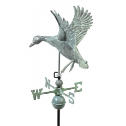 Landing Duck Weathervane, Blue Verdi