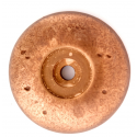 Rust Bronze Round Back Plate