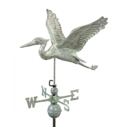 Blue Heron Weathervane, Blue Verdi