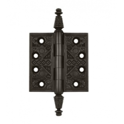 "Ornate Oil-Rubbed Bronze Hinge 3.5""X 3.5"""
