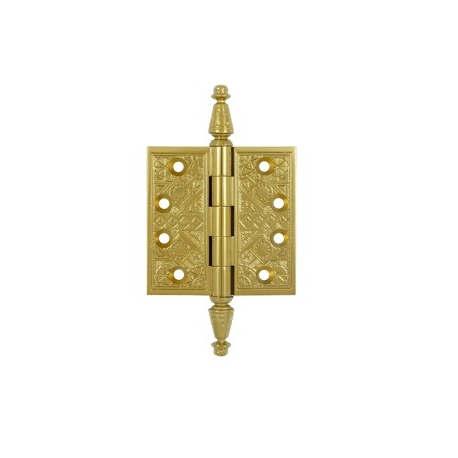 "Ornate PVD Brass Hinge 3.5""X 3.5"""