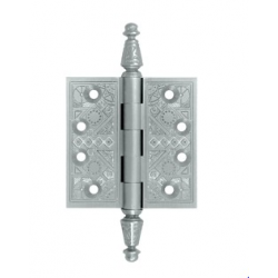 "Ornate Satin Nickel Hinge 4""X 4"""