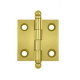 """Un-lacquered Brass 1 1/2""""X 1 1/2"""" Cabinet Hinge"""
