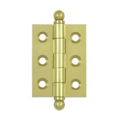 """Un-lacquered Brass 2""""X 1 1/2"""" Cabinet Hinge"""