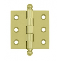 """Un-lacquered Brass 2""""X 2"""" Cabinet Hinge"""