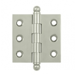 "Polished Nickel 2""X 2"" Cabinet Hinge"