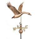 Feathered Goose  Weathervane, Polished Copper