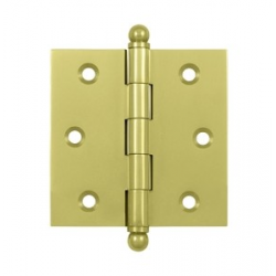 """Un-lacquered Brass 3""""X 2"""" Cabinet Hinge"""