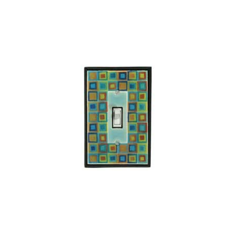 Tiny Tiles Single Toggle Switch Plate