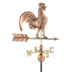 Rooster Weathervane, Polished Copper 25""
