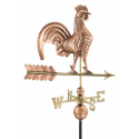 """Rooster Weathervane, Polished Copper 25"""""""