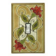 Red Flower Single Toggle Switch Plate