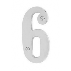 """Brass 4"""" House Number """"6"""""""