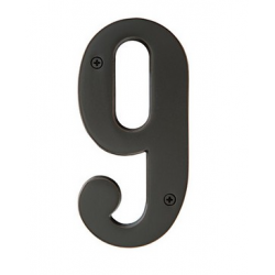 """Brass 4"""" House Number """"9"""""""