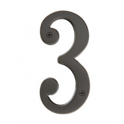 """Brass 5"""" House Number """"3"""""""