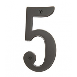 """Brass 5"""" House Number """"5"""""""