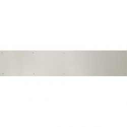 "Satin Chrome Kick Plate 8""X 34"""