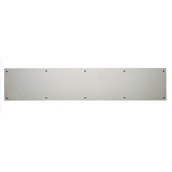"Satin Nickel Kick Plate 6""X 30"""