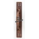 Hammered Rust Bronze Pull Back Plate