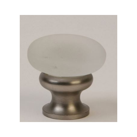 Glass Knob/ Frosted/ Satin Nickel