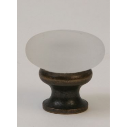 Glass Knob / Frosted/ Oil Rubbed Bronze