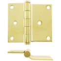 Half Surface Screen Door Hinge Polished Brass