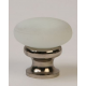 Glass Knob / White Frosted /Polished Nickel