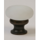 Glass Knob/White Frosted / Oil Rubbed Bronze