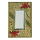 Red Flower Single Decora Switch Plate