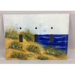 Ocean Breeze Triple Switch Plate