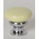 Butter Yellow Knob w/ Polished Chrome Stem