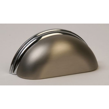Satin Nickel & Polished Chrome Cup Pull